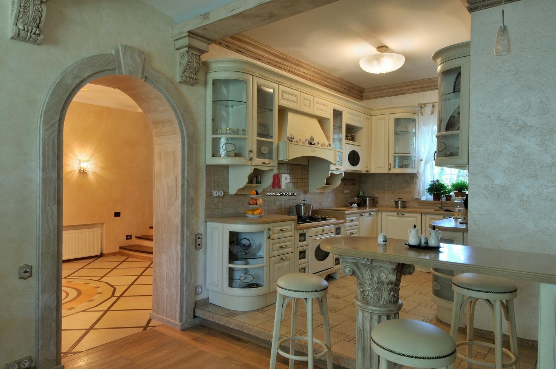 Дизайн загородного дома кухни