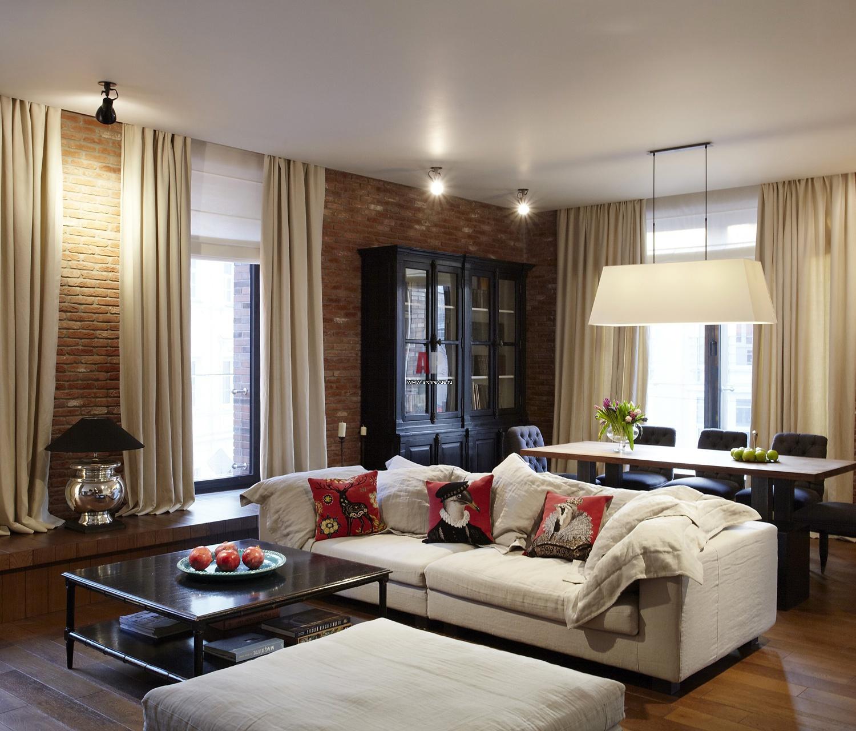 Гостиная в американском стиле дизайн