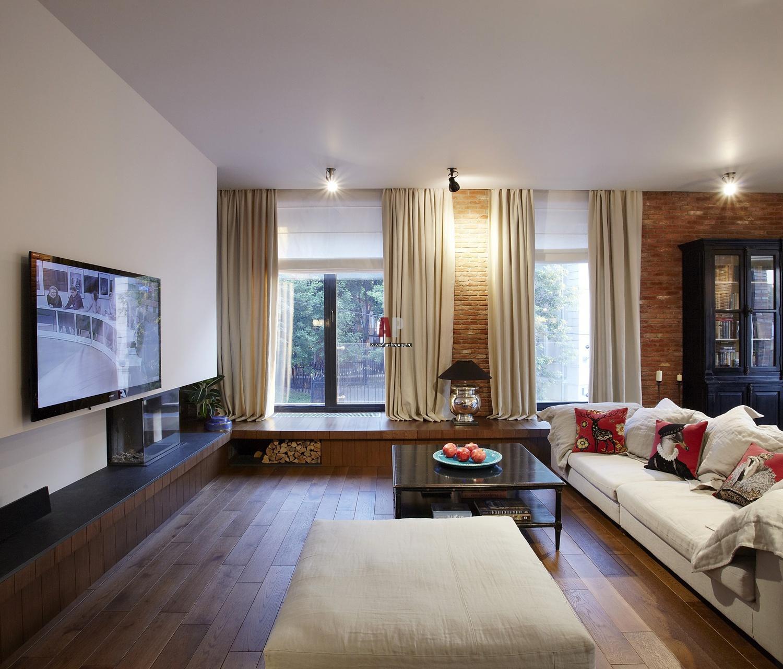 Гостиная фото в квартире с окном