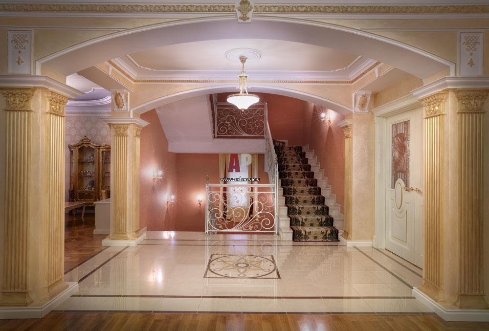 Холл в классическом стиле фото