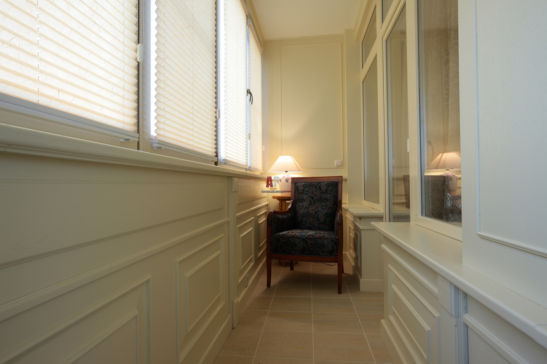 Оформление балкона лоджии в классическом стиле. - цены на пл.