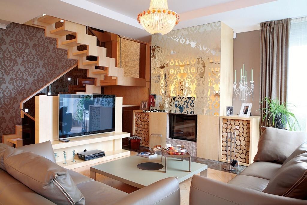 Таунхаус кухня гостиная интерьер
