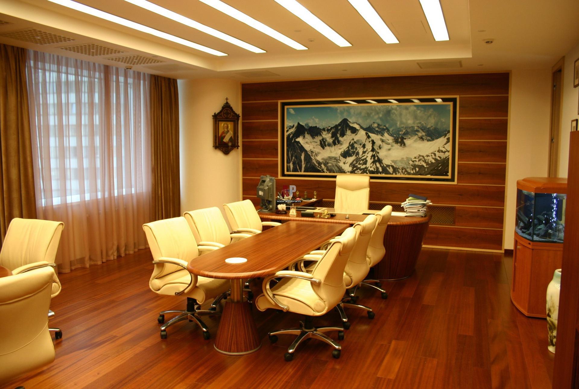 Интерьер делового кабинета фото