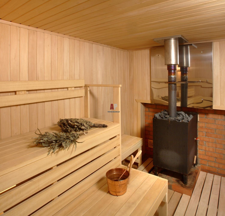 В деревянном доме сауна своими руками
