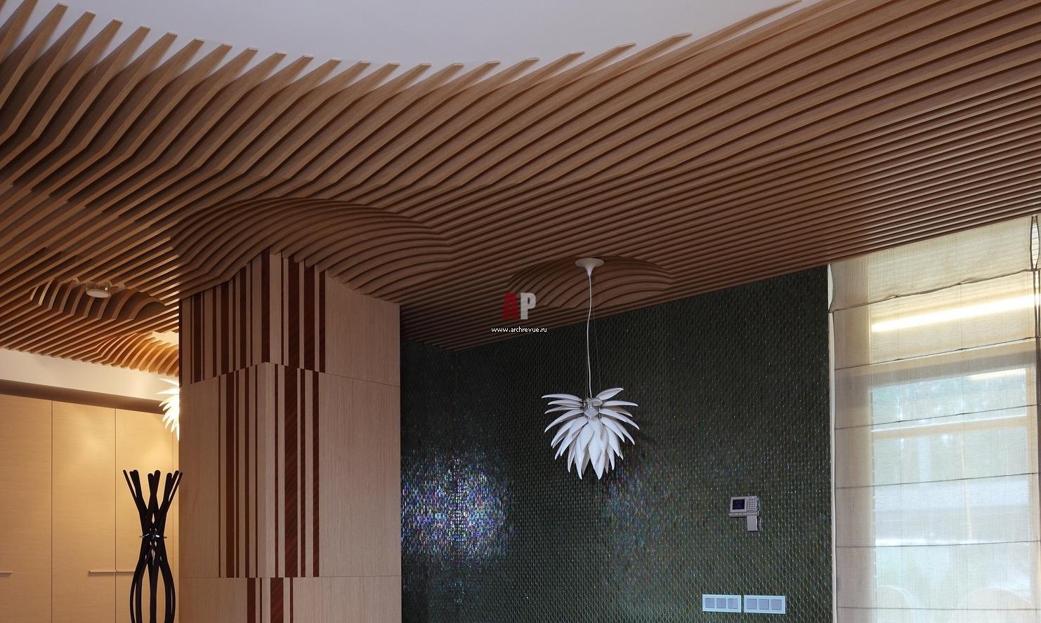 Деревянный потолок своими руками 16