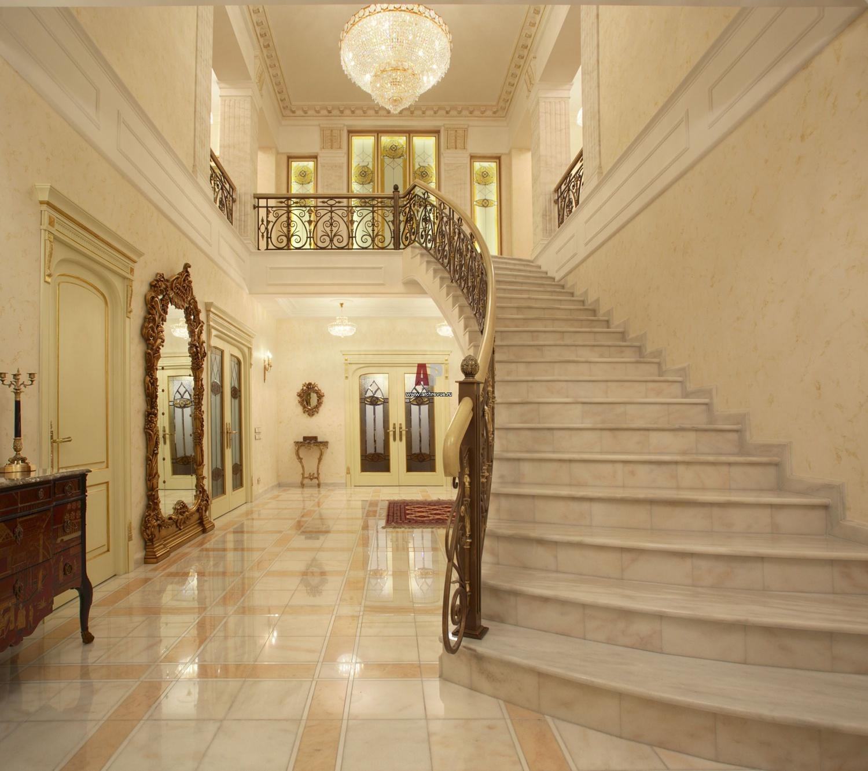 Фото интерьеров домов холл лестниц