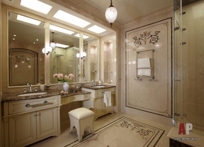 Ванная комната дизайн в классическом стиле