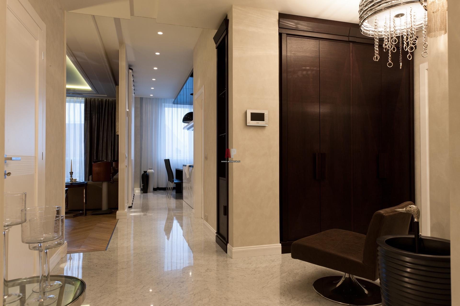 Зоны квартиры в современном стиле