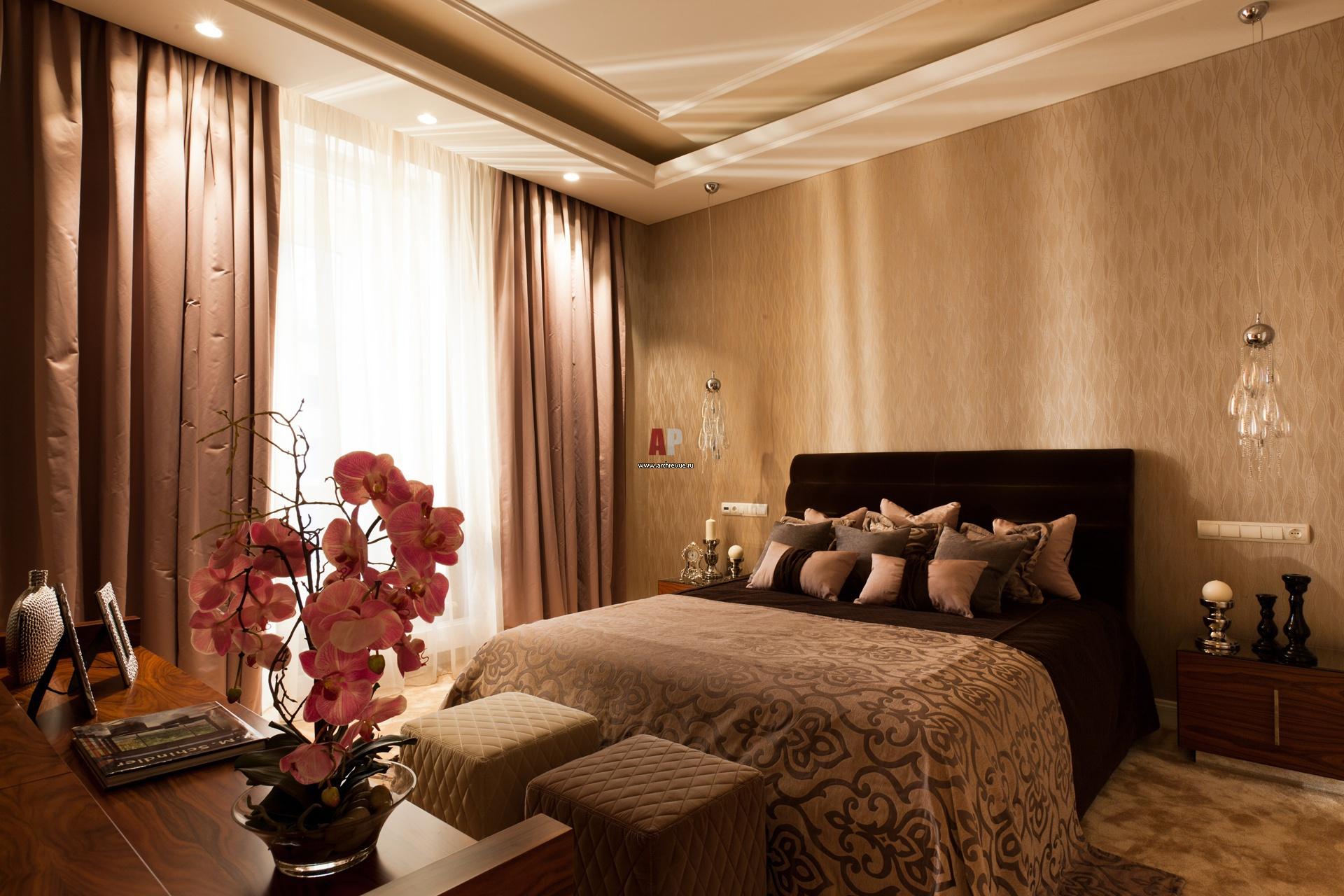 Фото интерьера спальни квартиры в