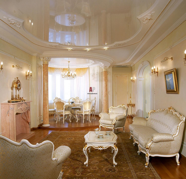 Дизайн потолка в классическом стиле фото