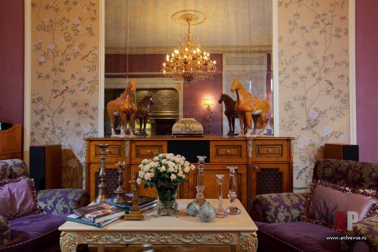 маленькая гостиная в стиле прованс.