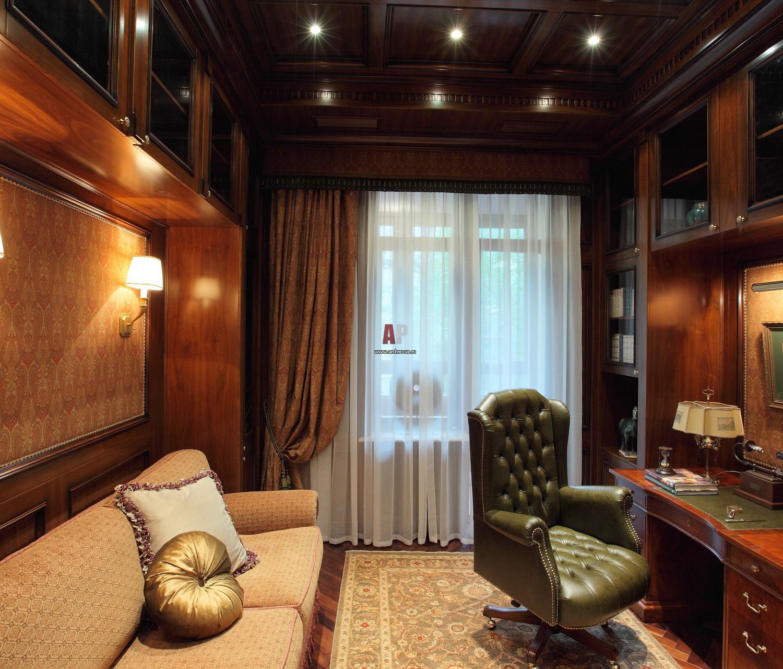 потолок для кабинета квартиры фото русского стиля свойственны