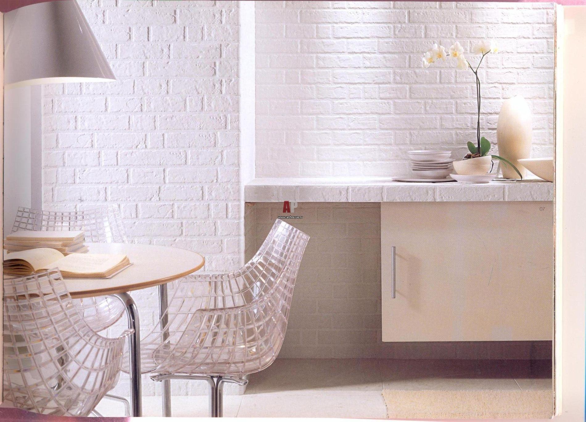 Кирпичная стена на кухне: декоративные материалы в интерьере.