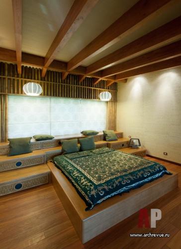 Деревянный дом макалун с китайскими