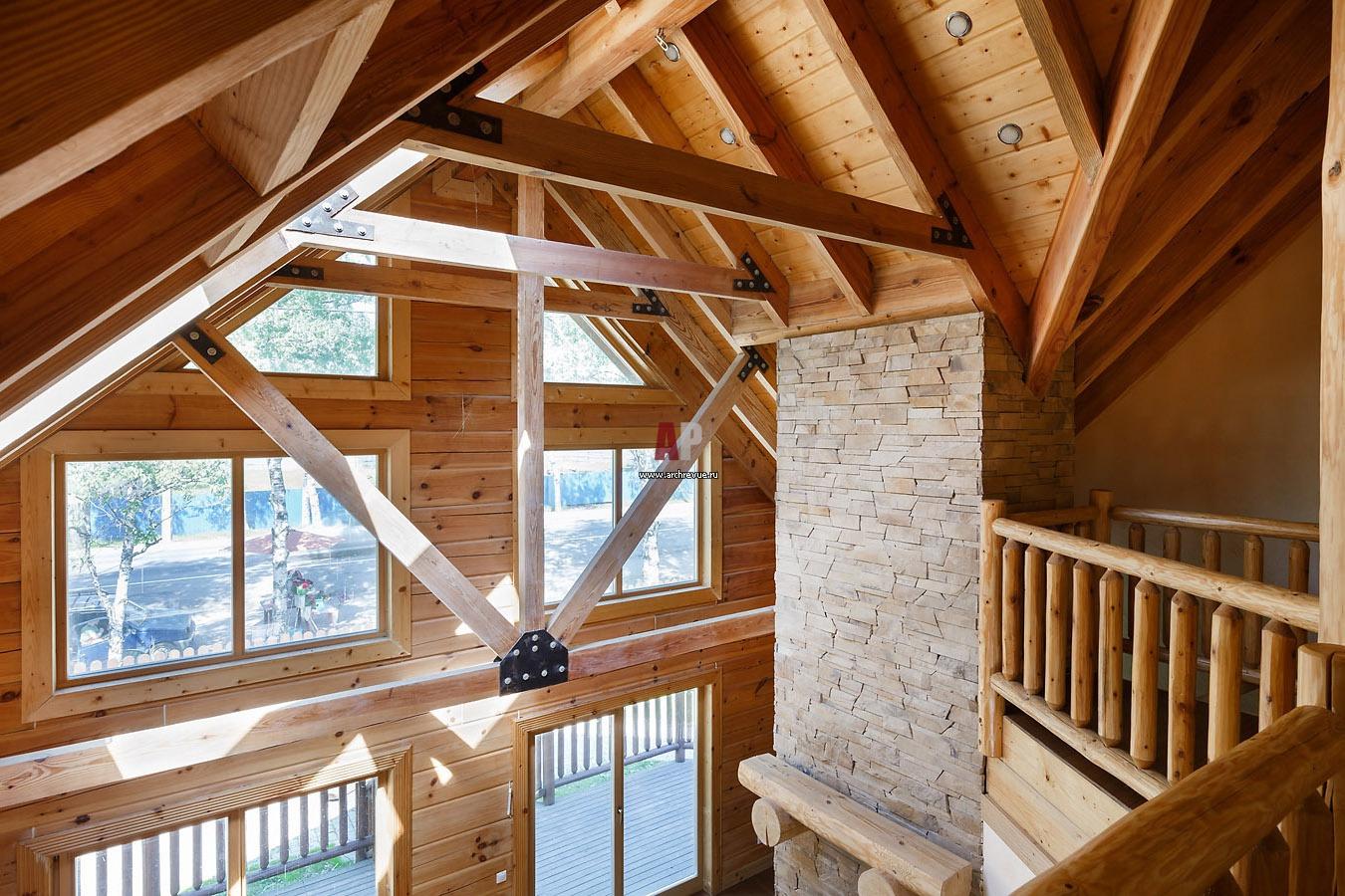 Высота потолков в деревянных домах - нормы и способы увеличе.