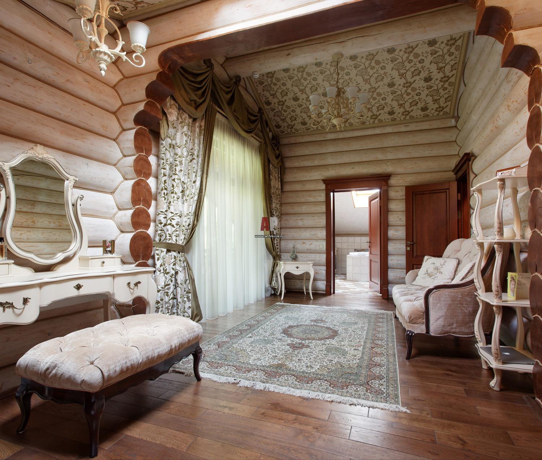 Интерьеры дома из оцилиндрованного дом