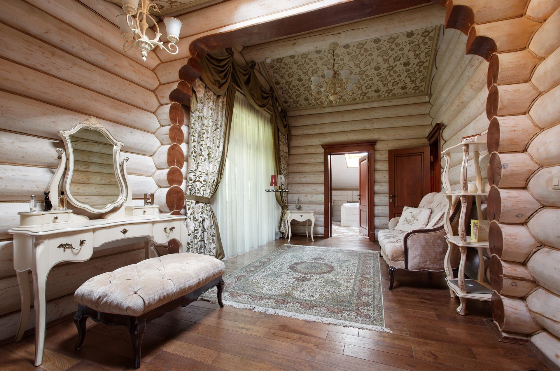 Дизайн бревенчатого дома фото