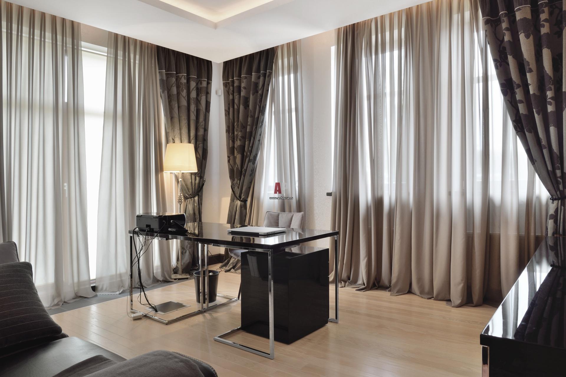 Современные занавески в гостиную фото
