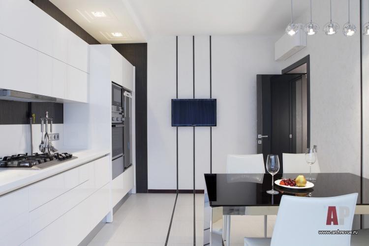Фото интерьера кухни таунхуса в стиле
