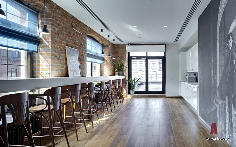 Офис в стиле лофт дизайн