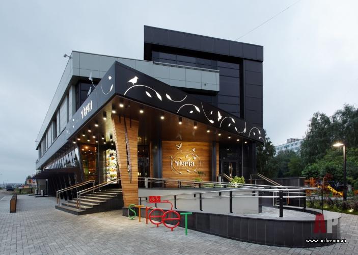 Дизайн фасада кафе