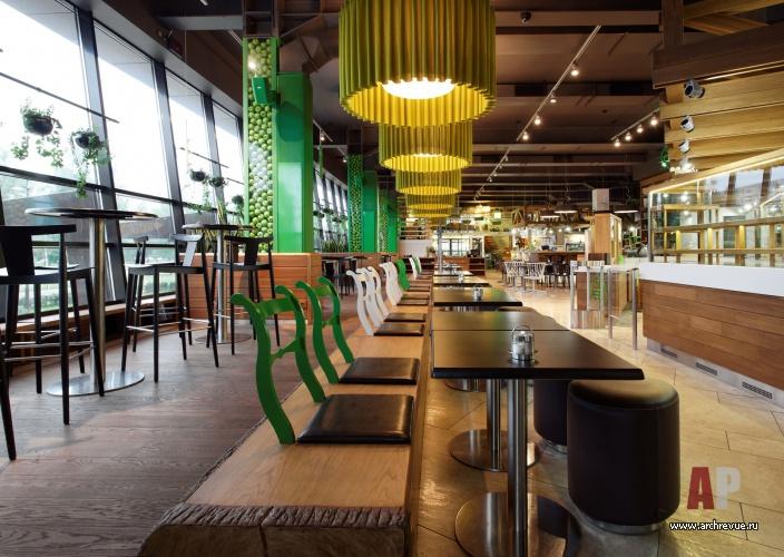 Дизайн интерьеров ресторанов в эко стиле 136
