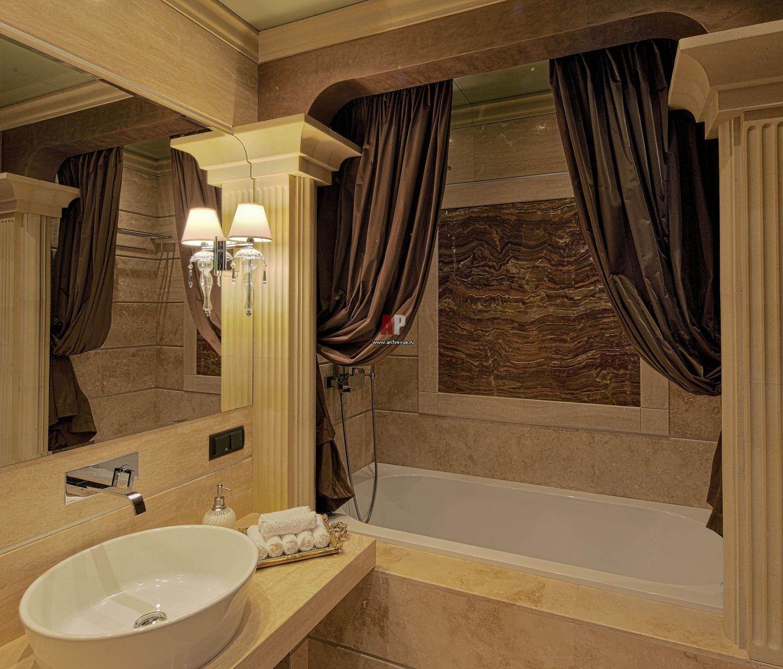 Квадратная ванная комната фото