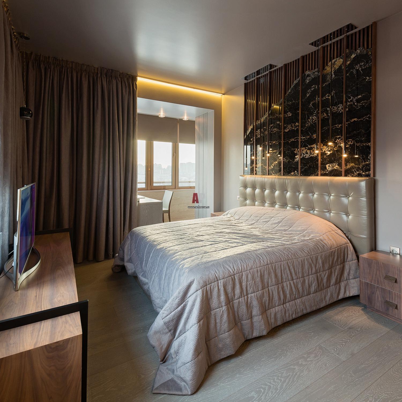 Интерьер спальни в квартире в современном стиле фото