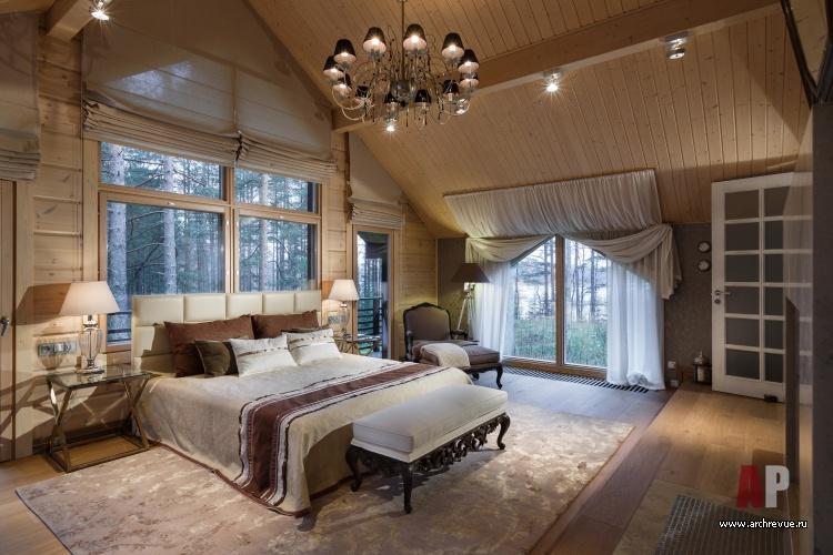 Интерьер спальни шоколадного цвета