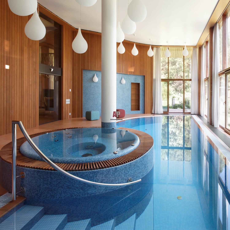 просто сделать дом с бассейном внутри проект фото этого дня