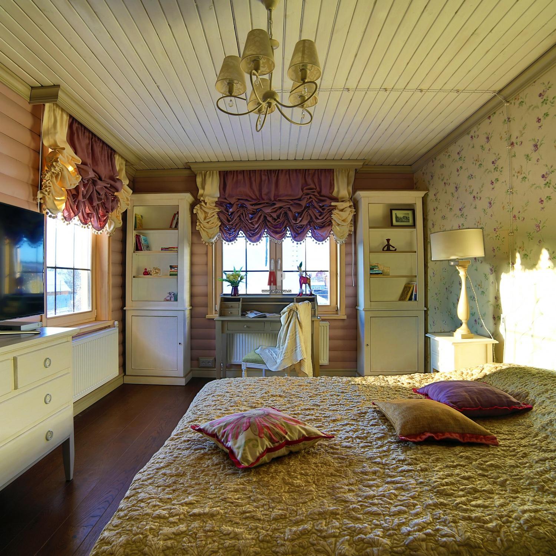 комната в стиле кантри фото интерьер