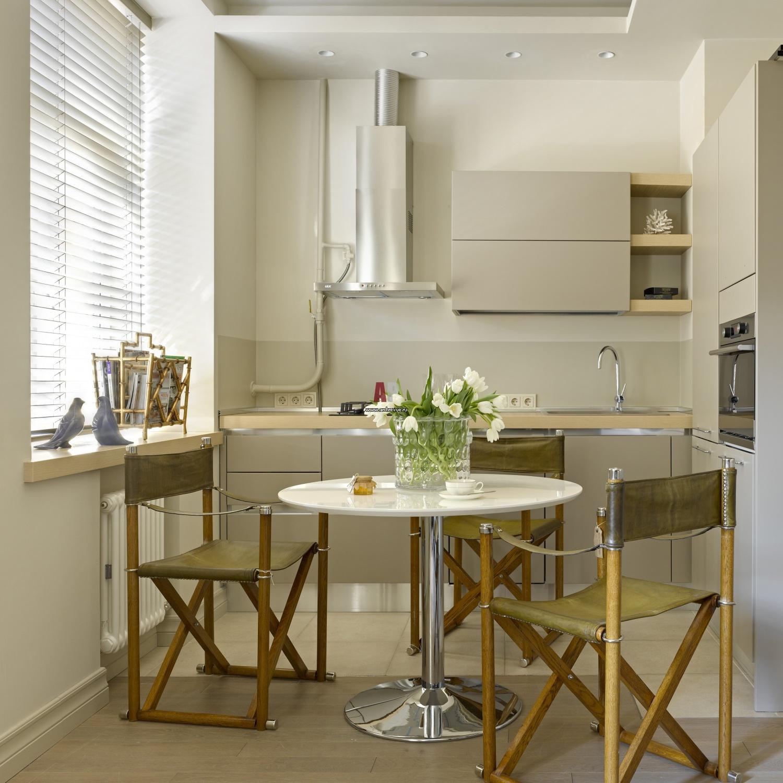 Дизайн маленькой кухни и столовой в доме