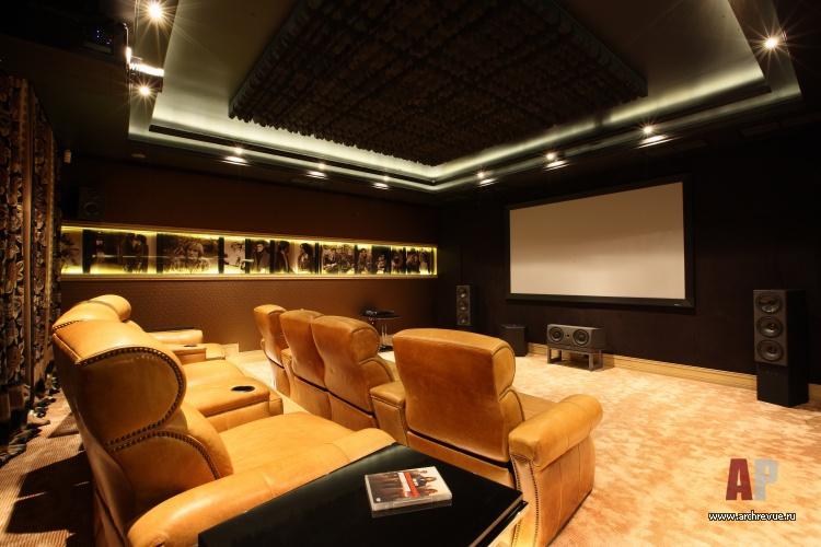 Дизайн домашнего кинотеатра в загородном доме