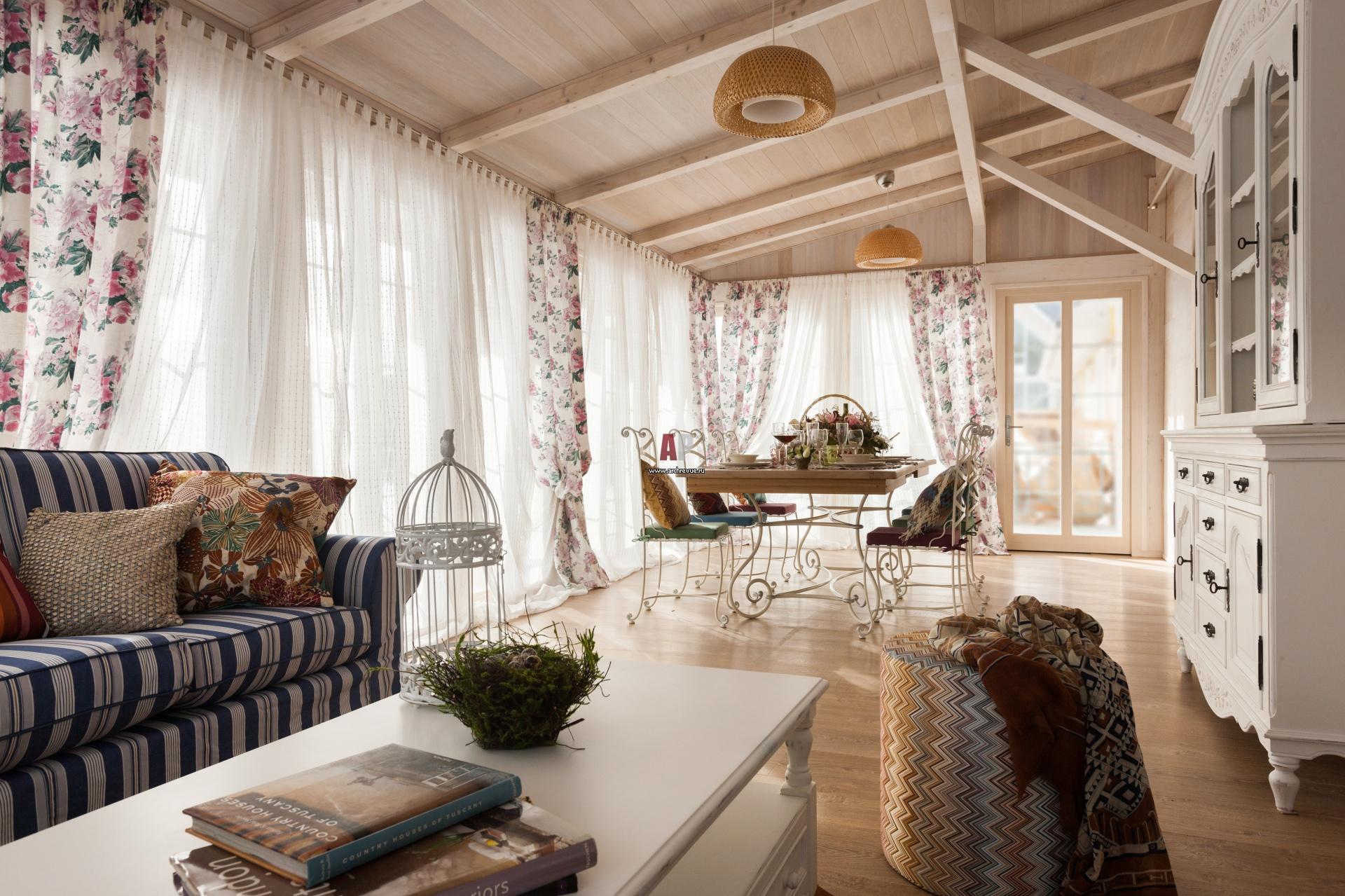 Интерьер загородного дома в стиле прованс своими руками