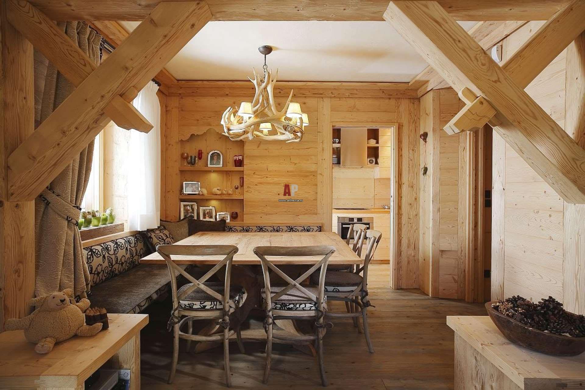Декор деревянного дома фото