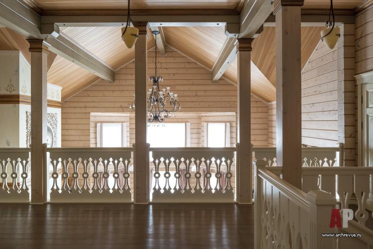 Дизайн второго этажа в деревянном доме