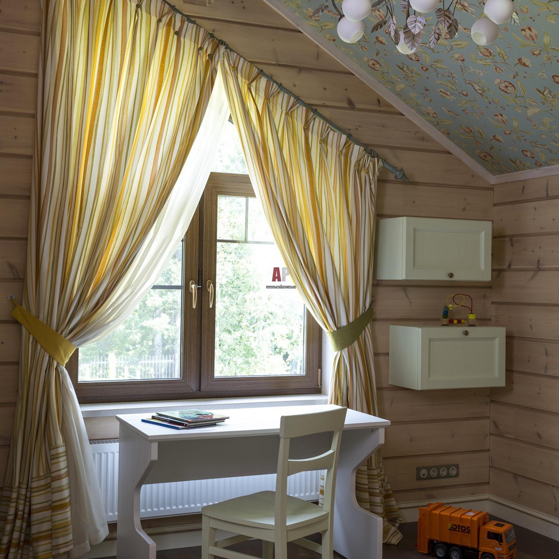 дизайн штор в спальню фото на даче жил