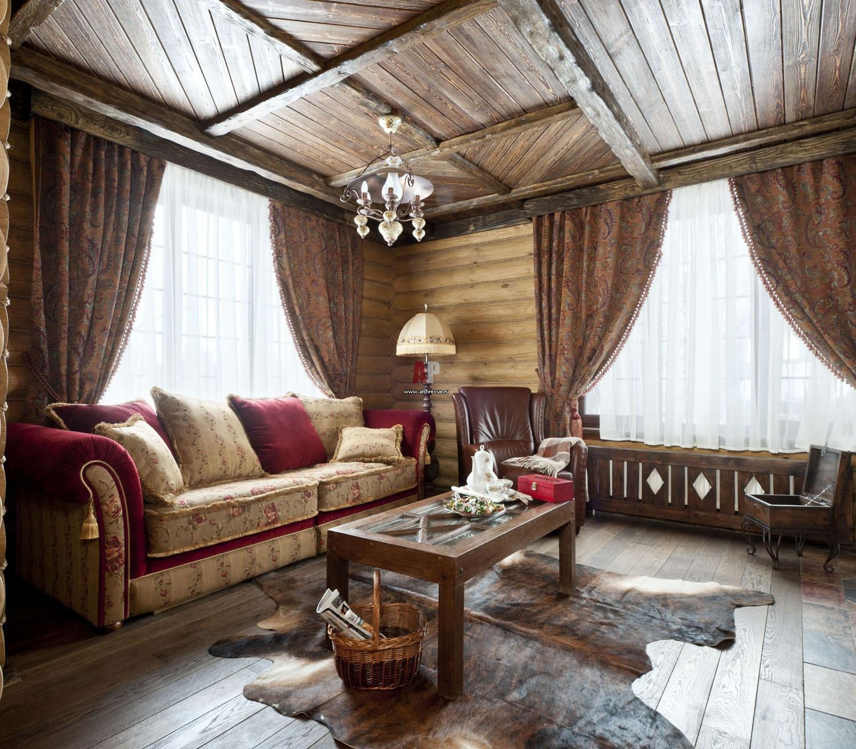 Интерьер в маленьком деревенском доме фото