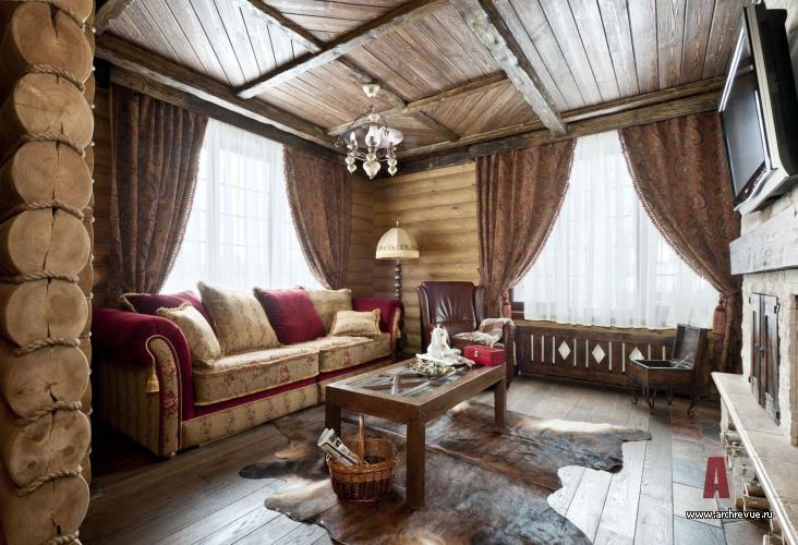 Шторы для деревянного дома 155