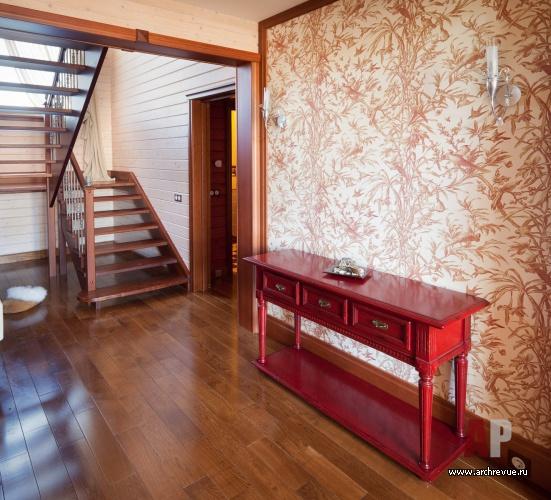 Интерьер второго этажа в деревянном доме фото