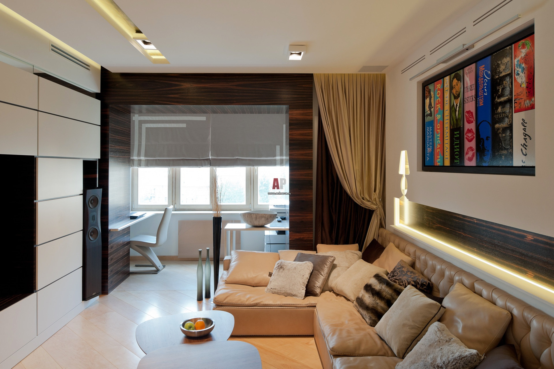 Дизайн функциональной квартиры в традициях минимализма для с.