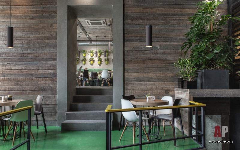 Дизайн-проект кафе с вегетарианским меню Вход В Кафе Интерьер