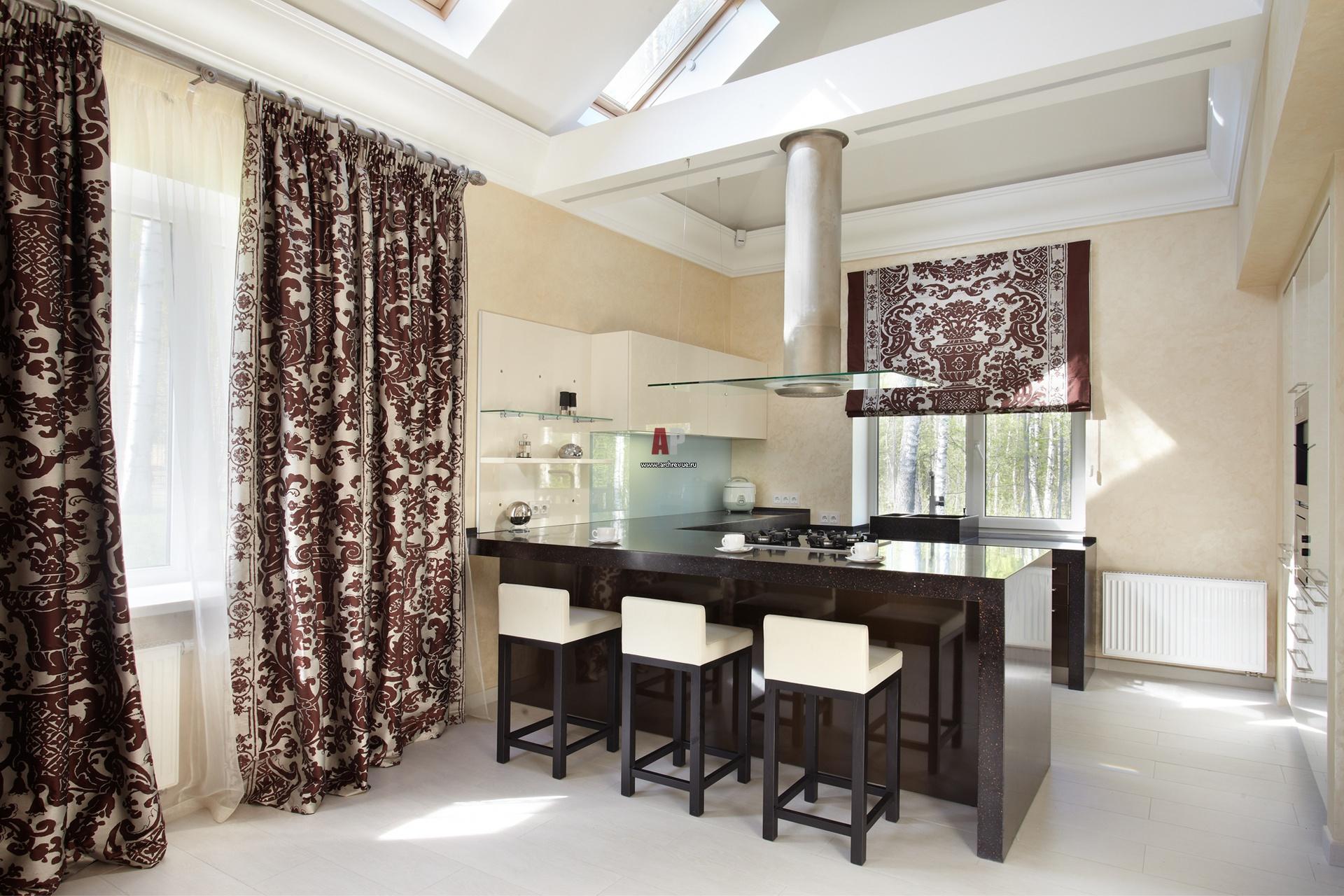 Шторы для кухни гостиной фото