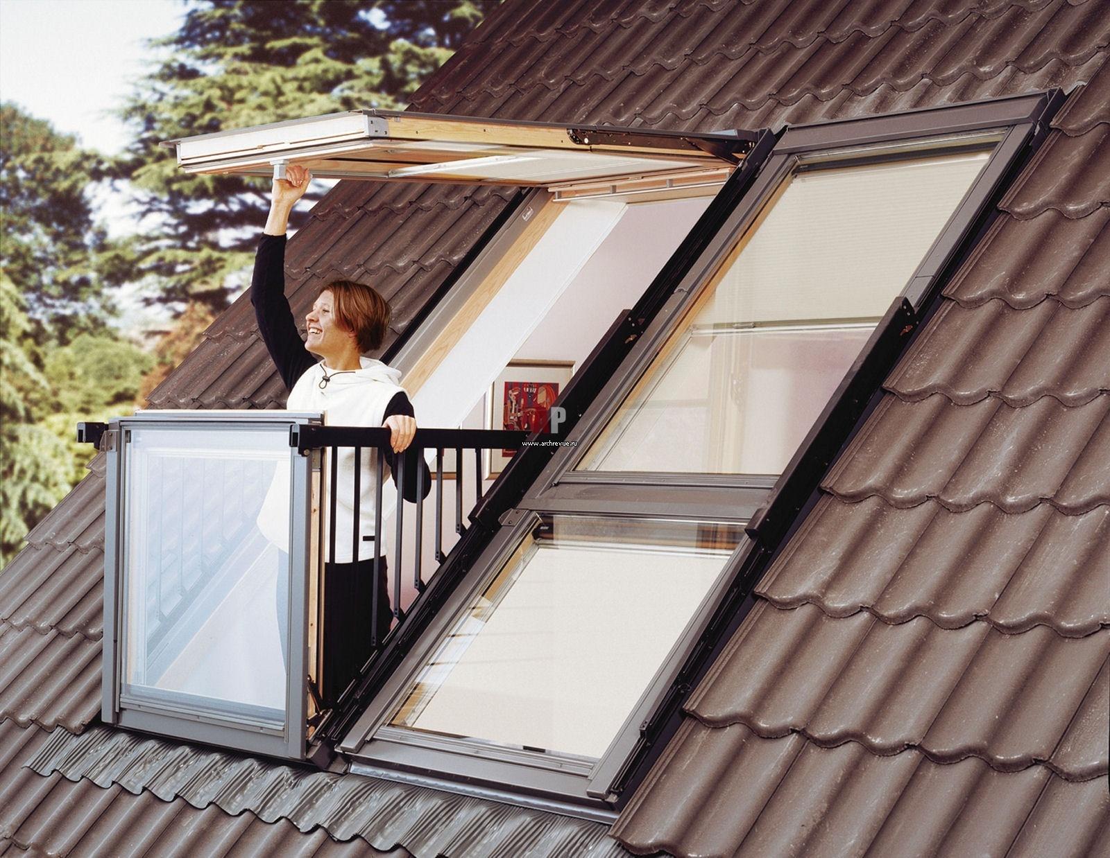 Балкон на крыше museme.