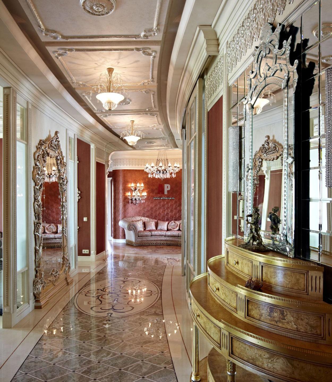Интерьер и дизайн кухни коридора зала