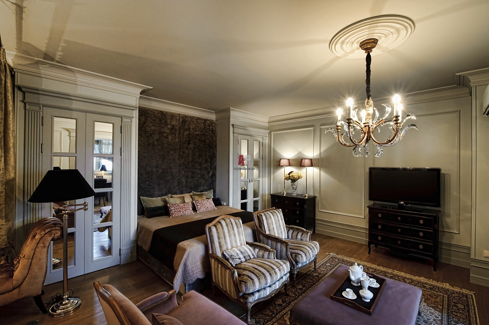 дизайн квартиры студии фото спальня
