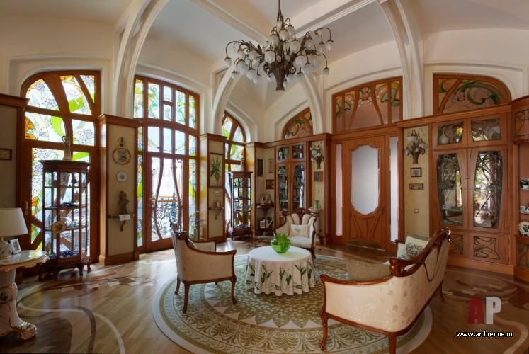 Гостиной дома в стиле модерн