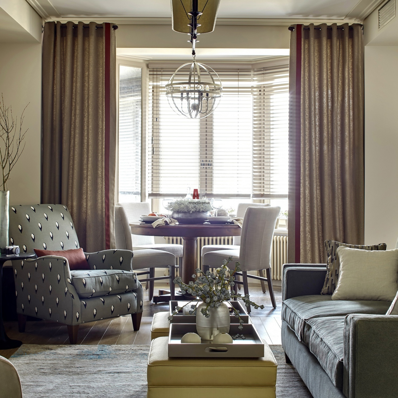 шторы для гостиной в стиле неоклассика фото ней