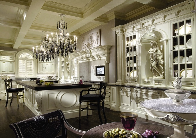 Архитектурная кухня Clive Christian. Architectural ivory kitchen Clive Christian