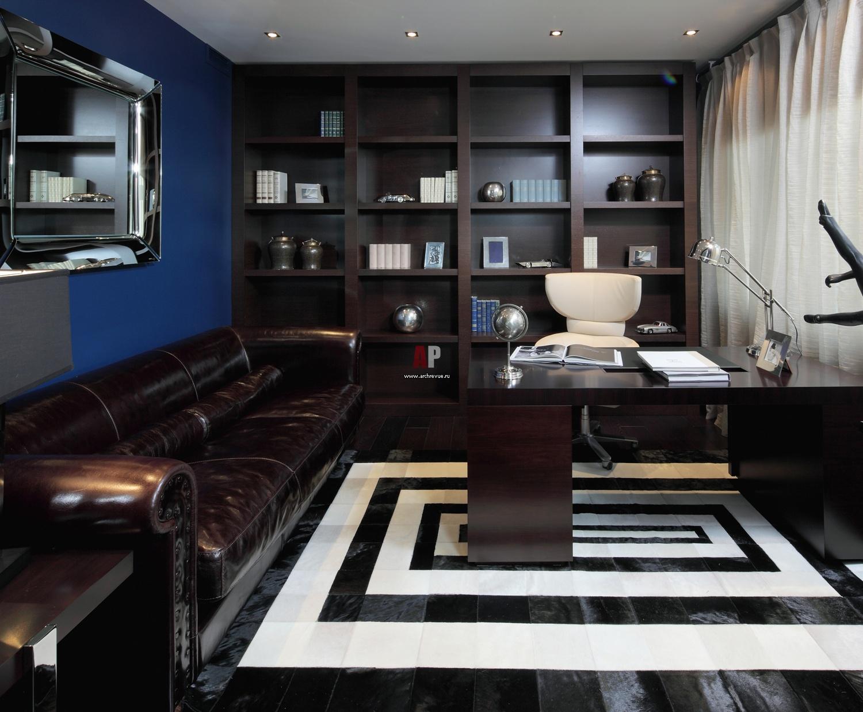 Интерьер кабинета фото в современном стиле